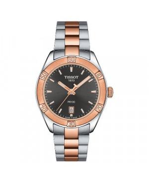Szwajcarski, sportowy zegarek damski Tissot PR 100 SPORT CHIC T101.910.22.061.00 (T1019102206100) na bransolecie