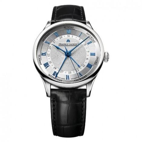Szwajcarski klasyczny zegarek męski MAURICE LACROIX Masterpiece 5 Aiguilles MP6507-SS001-110 (MP6507SS001110)