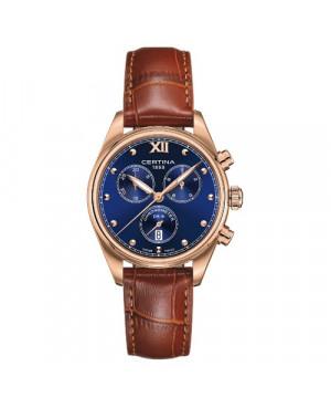 Szwajcarski, sportowy zegarek damski Certina DS-8 Lady Chronograph C033.234.36.048.01 (C0332343604801)