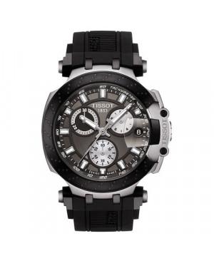 Szwajcarski, sportowy zegarek męski Tissot T-RACE Chronograph T115.417.27.061.00 (T1154172706100) na kauczukowym pasku