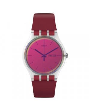 Szwajcarski, modowy zegarek damski SWATCH Originals New Gent SUOK717 POLARED