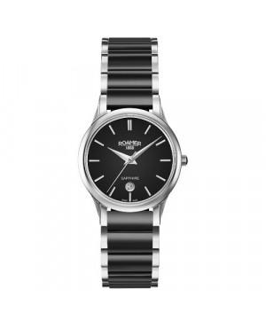 Szwajcarski, elegancki zegarek damski ROAMER C-Line 657844 41 55 60 (657844415560)