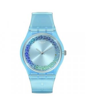 SWATCH GL122 SWATCH GJ702 niebieski szwajcarski zegarek damski na pasku