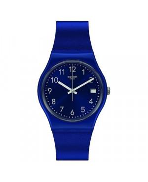 SWATCH GN416 granatowy szwajcarski zegarek damski na pasku