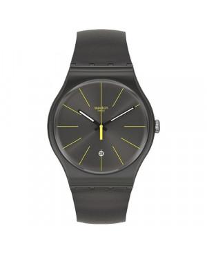 Szwajcarski, modowy zegarek męski SWATCH Originals New Gent SUOB404 CHARCOLAZING