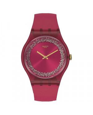 Szwajcarski, modowy zegarek damski SWATCH Originals New Gent SUOP111 RUBY RINGS