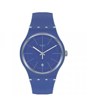 Szwajcarski, modowy zegarek męski SWATCH Originals New Gent SUOS403 BLUE LAYERED