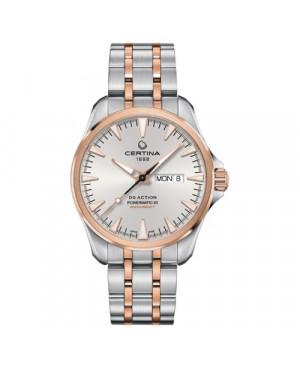Szwajcarski, sportowy zegarek męski CERTINA DS Action Day-Date Powermatic 80 C032.430.22.031.00 (C0324302203100)