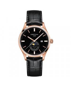 Szwajcarski, klasycznyi zegarek męski CERTINA DS 8 Moon Phase C033.457.36.051.00 (C0334573605100)
