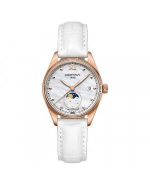 Szwajcarski, klasyczny zegarek damski Certina DS-8 Lady Moon Phase C033.257.36.118.00 (C0332573611800)