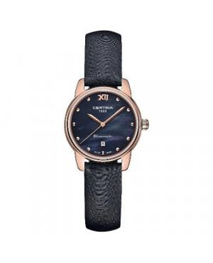 Szwajcarski, klasyczny zegarek damski Certina DS-8 Lady 27 mm C033.051.36.128.00 (C0330513612800)