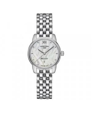 Szwajcarski, elegancki zegarek damski Certina DS-8 Lady 27 mm C033.051.11.118.00 (C0330511111800)