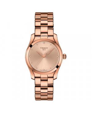 Szwajcarski, elegancki zegarek damski Tissot T-Wave T112.210.33.456.00 (T1122103345600) na bransolecie biżuteryjny