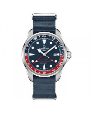 Szwajcarski, sportowy zegarek męski CERTINA DS Action GMT Powermatic 80 C032.429.18.041.00 (C0324291804100)