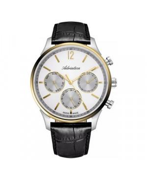 Szwajcarski, elegancki zegarek męski ADRIATICA A8271.2253QF (A82712253QF)