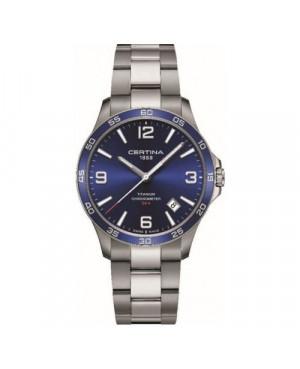 Szwajcarski, sportowy zegarek męski CERTINA DS 8 Gent C033.851.44.047.00 (C0338514404700)