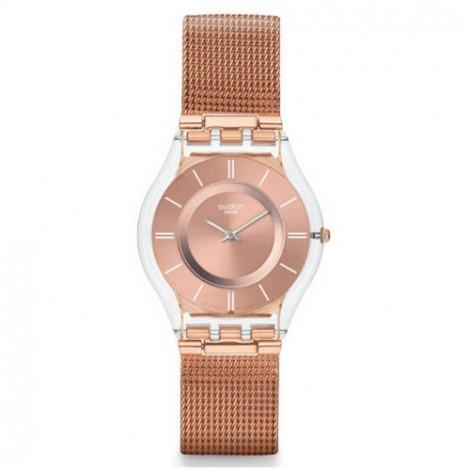 Szwajcarski, modowy zegarek damski SWATCH Skiny Classic SFP115M HELLO DARLING