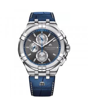 Szwajcarski sportowy zegarek męski MAURICE LACROIX Aikon Chronograph AI1018-SS001-333-1 (AI1018SS0013331)