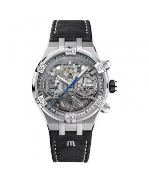 Szwajcarski, klasyczny zegarek męski MAURICE LACROIX AIKON Chronograph Skeleton AI6098-SS001-090-1(AI6098SS0010901)