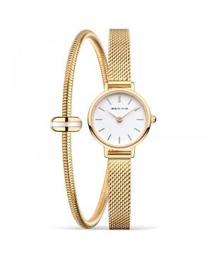 Biżuteryjny, zegarek damski BERING Classic Collection 11022-334-SET (11022334SET) w zestawie z bransoletką