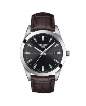 Klasyczny zegarek męski Gentleman TISSOT T127.410.16.051.01 (T1274101605101)