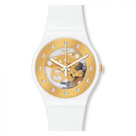 Szwajcarski, modowy zegarek damski SWATCH Originals New Gent SUOZ148 SUNRAY GLAM