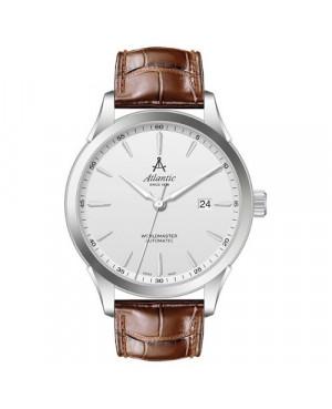 Klasyczny zegarek męski ATLANTIC 52759.41.21S Worldmaster (52759.41.21S)