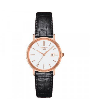 Szwajcarski, elegancki zegarek damski  TISSOT Goldrun Lady 18K T922.210.76.011.00 (T9222107601100)