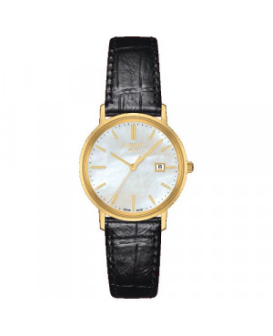 Szwajcarski, elegancki zegarek damski TISSOT Goldrun Lady 18K T922.210.16.111.00 (T9222101611100)