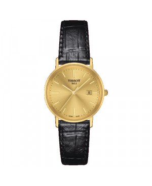 Szwajcarski, elegancki zegarek damski  TISSOT Goldrun Lady 18K T922.210.16.021.00 (T922210.602100) złoty szkło szafirowe