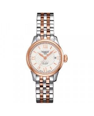 Szwajcarski, klasyczny zegarek damski TISSOT Le Locle T41.2.183.33 (T41218333) elegancki biżuteryjny automatyczny