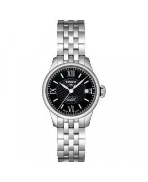Szwajcarski, klasyczny zegarek damski TISSOT Le Locle T41.1.183.53 (T41118353) elegancki automatyczny szkło szafirowe