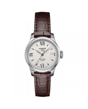 Szwajcarski, klasyczny zegarek damski TISSOT Le Locle T41.1.113.77 (T41111377) elegancki automatyczny na pasku szkło szafirowe