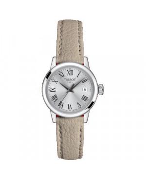TISSOT T129.210.16.033.00 Classic Dream Lady (T1292101603300) zegarek damski klasyczny szwajcarski z szafirowym szkłem