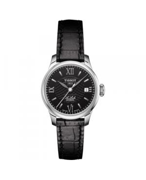 Szwajcarski, klasyczny zegarek damski TISSOT Le Locle T41.1.123.57 (T41112357) elegancki automatyczny na pasku