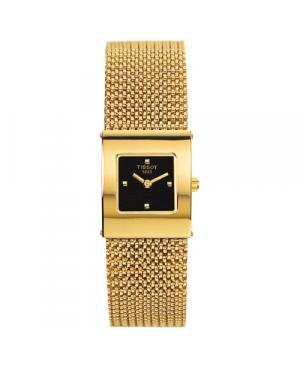 Szwajcarski, elegancki zegarek damski  TISSOT Bellflower Lady 18K T73.3.321.51 (T73332151) złoty biżuteryjny szkło szafirowe
