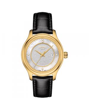 Szwajcarski, elegancki zegarek damski  TISSOT Fascination Lady 18K T924.210.16.116.00 (T9242101611600) złoty diamenty