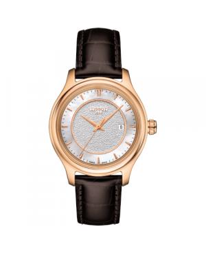 Szwajcarski, elegancki zegarek damski  TISSOT Fascination Lady T924.210.76.111.00 (T9242107611100) złoty