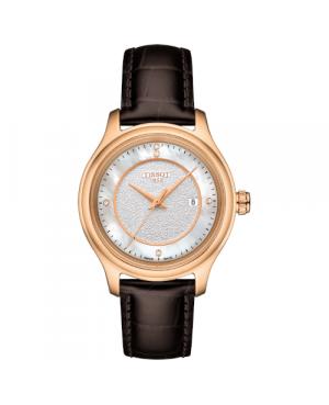 Szwajcarski, klasyczny zegarek damski  TISSOT Fascination Lady T924.210.76.116.00 (T9242107611600) złoty diamenty