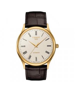 Elegancki zegarek męski TISSOT Excellence Automatic T926.407.16.263.00 (T9264071626300) z 18 karatowego złota
