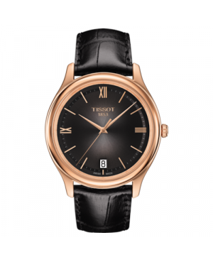 Elegancki zegarek męski TISSOT Fascination T924.410.76.308.00 (T9244107630800) zegarek szwajcarski z 18 karatowego złota