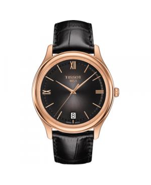 Elegancki zegarek męski TISSOT Fascination T924.410.76.061.00 (T9244107606100) zegarek z 18 karatowego złota szwajcarski
