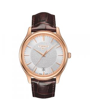 Elegancki zegarek męski TISSOT Fascination T924.410.76.031.00 (T9244107603100) zegarek szwajcarski z 18 karatowego złota