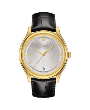Elegancki zegarek męski TISSOT Fascination T924.410.16.038.00 (T9244101603800) zegarek szwajcarski z 18 karatowego złota