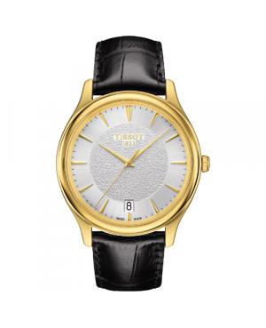 Elegancki zegarek męski TISSOT Fascination T924.410.16.031.00 (T9244101603100) zegarek szwajcarski z 18 karatowego złota