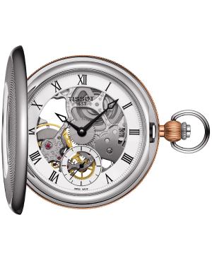 Klasyczny zegarek męski TISSOT Bridgeport T859.405.29.273.00 (T8594052927300) zegarek szwajcarski mechanizm automatyczny