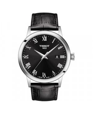 TISSOT T129.410.16.053.00 Classic Dream (T1294101605300) zegarek męski szwajcarski kwarcowy na pasku z szafirowym szkłem