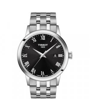 TISSOT T129.410.11.053.00 Classic Dream (T1294101105300) zegarek męski szwajcarski kwarcowy na bransolecie z szafirowym szkłem