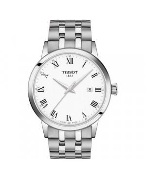 TISSOT T129.410.11.013.00 Classic Dream (T1294101101300) zegarek męski szwajcarski kwarcowy na bransolecie z szafirowym szkłem