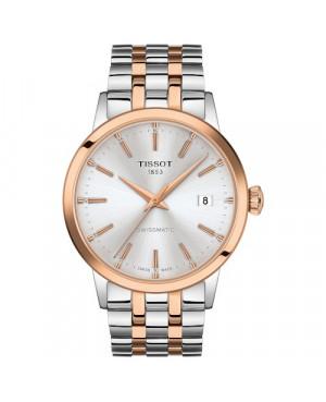 TISSOT T129.407.22.031.00 Classic Dream (T1294072203100) zegarek męski automatyczny szwajcarski z szafirowym szkłem